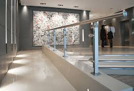 stainless steel railing glass panel indoor for mezzanines