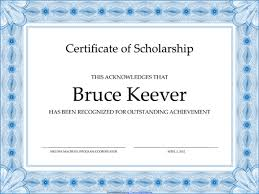 templates for scholarship awards 5 plus scholarship award certificate exles for word and pdf