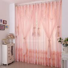 light pink color princess embroidery lace fabric curtain of kids