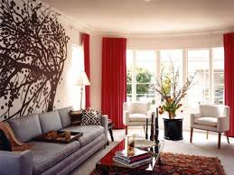 living room red rug