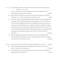 arithmetic logic unit computer organisation old exam paper