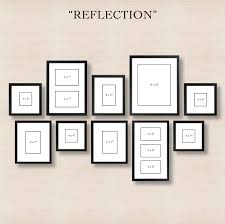 6 ways to set up a gallery wall 4 reflection create order out of