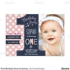 1st Birthday Invitation Card Samples First Birthday Party Invitation Chalkboard 5