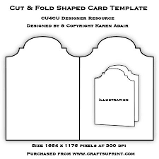 cut fold shaped card template on craftsuprint designed by karen