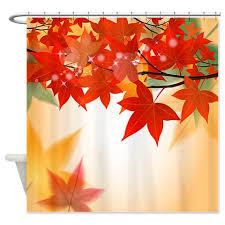 autumn leaves 8 shower curtain kawelamolokai