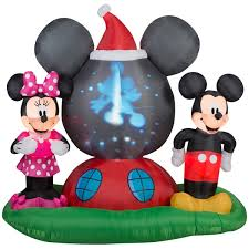projection airblown mickey and minnie mouse