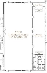 ballroom floor plan flourish atlanta by legendary events