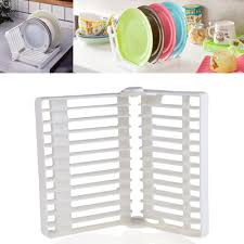 foldable dish drip rack plate organizer cup drainer kitchen