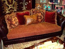 Leather And Tapestry Sofa Leather And Tapestry Sofa Catosfera Net