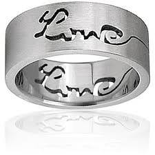 satin finish ring stainless steel satin finish laser cut ring free shipping