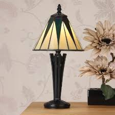 Traditional Table Lamps Interiors 1900 Dark Star Art Deco Tiffany Small Table Lamp 1920