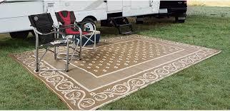 Camping Outdoor Rugs by Outdoor Reversible Patio Rv Mat Deck Door Porch Rug Camping Beach
