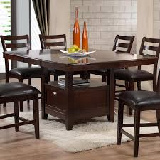 Butterfly Leaf Dining Room Table by Holland House 1965 Dining Contemporary Pub Table With Storage Base