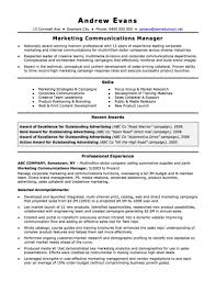 Resume Format For Sales And Marketing Manager The Australian Resume Joblers