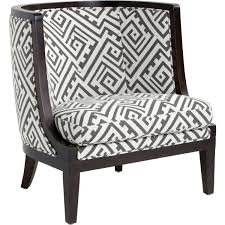 Grey And White Accent Chairs Sunpan 34138 Walters Armchair In Geo Grey Fabric W Espresso Frame