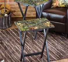 folding oversized wood tray table in espresso amazing tv snack table set ideas best image engine senbec com