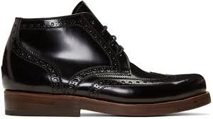 s boots lace junya watanabe black heinrich dinkelacker edition lace up boots