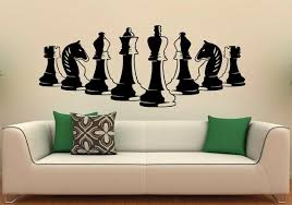 home design board games wish chess pieces wall decal vinyl stickers strategy board game
