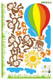 wall stickers shopclues wall stickers shopclues kids room large size six monkey kids wall sticker at best prices