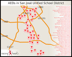 san jose unified map our impact racing hearts helping to save lives with aeds