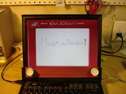 laptop too high tech for your needs turn it into an etch a sketch