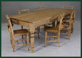 Victorian Pine Dining Table And Chapel Chairs Kitchendining - Victorian pine kitchen table