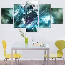 compare prices on metal wall art panels online shopping buy low wall art poster modern home decor living room 5 panel metal gear painting canvas print painting
