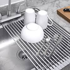 Kitchen Drying Rack For Sink by Amazon Com Sorbus Roll Up Dish Drying Rack Over The Sink Drying