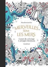 Livre Merveilles sous les mers  Carnet de coloriage  plongée