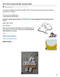 aruoro com ciri ciri cream kuda jantan asli by aruorocom issuu
