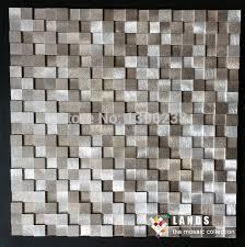 3d convex aluminium metal mosaic tiles kitchen backsplash tv
