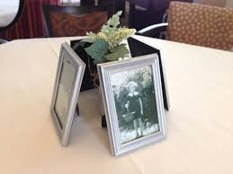Picture Frame Centerpieces by Penguinstamper Mom U0027s 85th Birthday Celebration