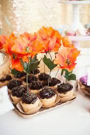 cupcakes from a first birthday garden party via kara u0027s party ideas