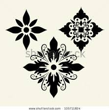 flower ornaments 5 flower sketch some stock vector 105711824