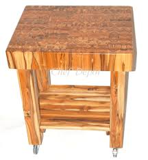 wood butcher block table butcher block wood pulaubatik