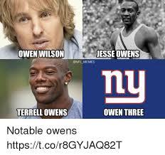 Owen Wilson Meme - owen wilson jesse owens niu terrell owens owen three notable owens