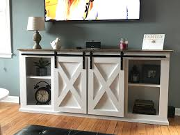 ana white grandy sliding door console diy projects living