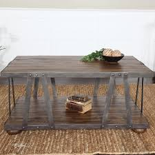 wood and metal sofa table stella industrial wood and metal coffee table zin home