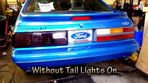 93 mustang lx tail lights 1986 mustang led tail lights brake lights and signal lights no