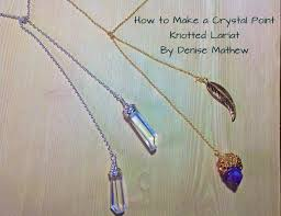 make crystal pendant necklace images How to make a crystal point knotted lariat necklace by denise jpg