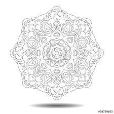 doodle presentations mandala element symmetric zentangle vector illustration