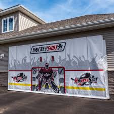 Hockey Wall Mural Hockey Shooting Tarp Crowd Goes Wild Hockeyshot