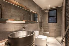 Industrial Style Bathroom Taipei Apartment Industrial And Vintage Style Design