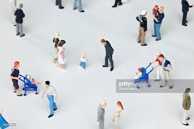 a of miniature figurines stock photo getty images