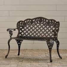 santa fe cast aluminum garden bench gdf studio image on