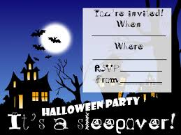 halloween party invitation templates printable invitations for sleepover party