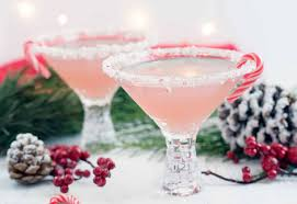 martini christmas peppermint infused gin cocktail a side of sweet