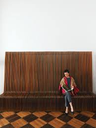 rosewood bench richard seifert architect oggetti e spazi