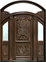 Exterior Doors Wooden Wooden Front Doors Wood Entry Doors With Glass Hfer