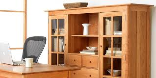 Natural Wood Bookcase Great Cherry Wood Bookshelves On Furniture With 72